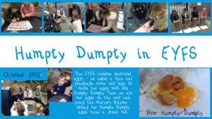 Humpty Dumpty in EYFS October 2015